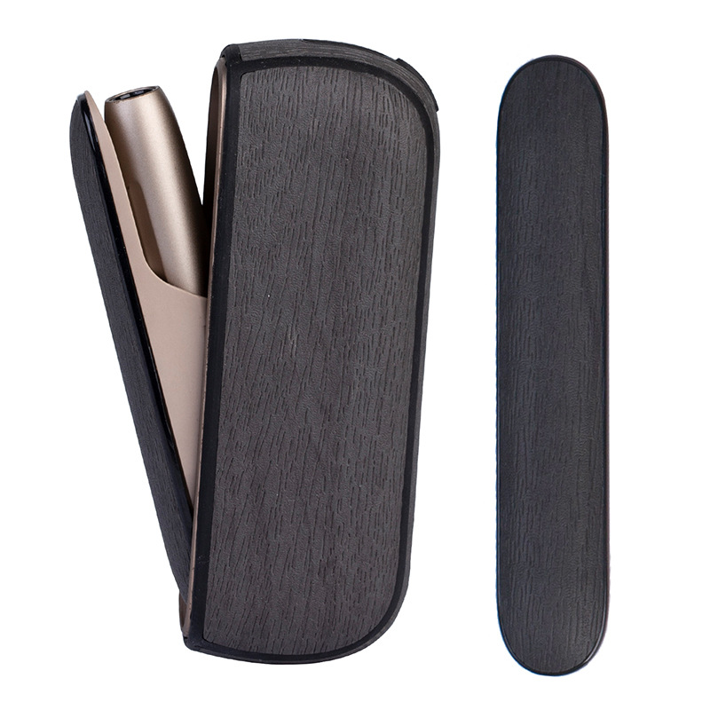 4 Colors Full Case Wood Bag Holder Side Cover + Leather Case For Iqos 3 Leather Pouch Case Accessories For Iqos 3.0 Cover