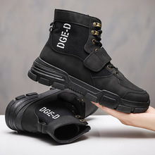 New fashion classic men's Martin boots high-top tooling leather boots