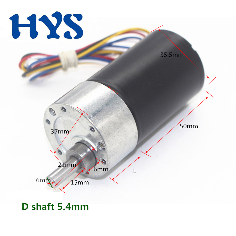 DC 12V 24V Gear Motor Electric BLDC 12 Volt V Reducer Brushless Mini Motors 5/8/15/2121270rpm DC12V Motor Micro 37GB-3650 bldc
