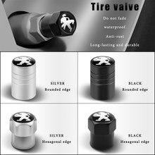 4 предмета в комплекте, для Peugeot 405 406 407 408 605 607 806 807 RCZ 207 208 306 308 508 108 2008 автомобиля знак пылезащитный колпачок для шины для колес Стикеры для кол...