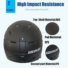 Outdoor ski helmet with reinforced ABS shell, windproof and warm riding helmet, shock absorption adjustable outdoor ski helmet #