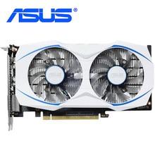 ASUS GTX 1050Ti 4G ekran kartı 128Bit GDDR5 kartları GTX1050Ti 4GB Geforce 7008MHz DP HDMI PC harita DUAL-GTX1050 Ti kullanılan