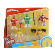 Power Toys Rangers 5-Pack Action Figure Mighty Morphin Mecha Beast Super Gift for Children
