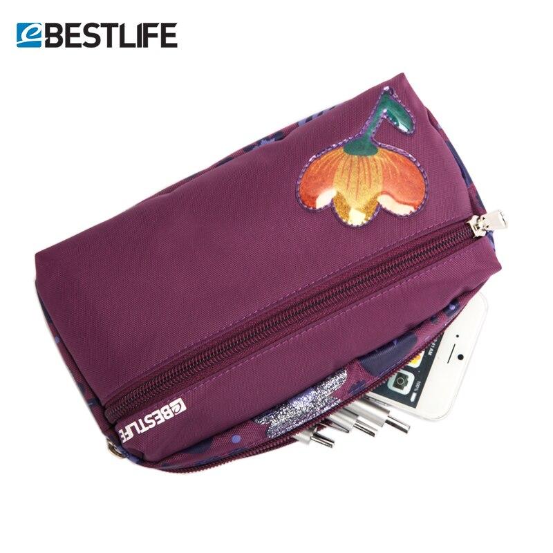 BESTLIFE Pencil Box Bags For Teenage Girl Kids Floral Print Student Bag Children's Handbag Pink Purple