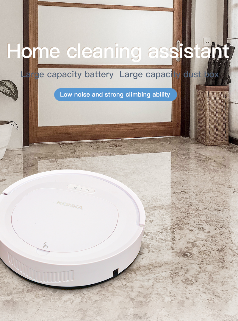 IKONKA V88 Automatically Chargeable Robot Vacuum Cleaner For Hard Floors and Carpet 6
