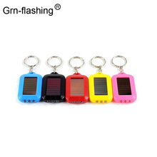 Portable Mini 3LED Solar Powered Rechargeable Keychain Flash