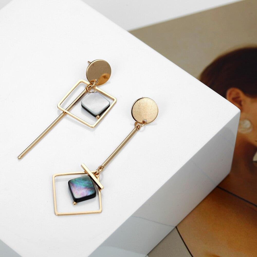 Fashion Asymmetric Earrings Bohemian Ethnic Style Pendant 2019 New Korean Design Jewelry Wholesale