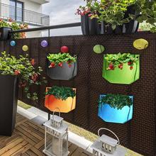 1PC pionowe wiszące ściany sadzarka na ścianę do salonu Feltcloth rosnące pojemnik torby nasiona ogrodowe przedszkole torba donica na rośliny ogrodnicze tanie tanio Rozwijaj torby Włókno roślinne 200617