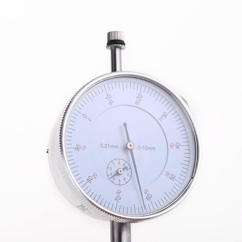 Precisão 0.01mm dial indicador calibre 0-10mm medidor