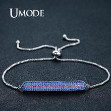 UMODE Blue Line Geometric Bracelets for Women Wedding Bracelets & Bangles Men Vintage Fashion Luxury Jewelry Accessories UB0101A(China)