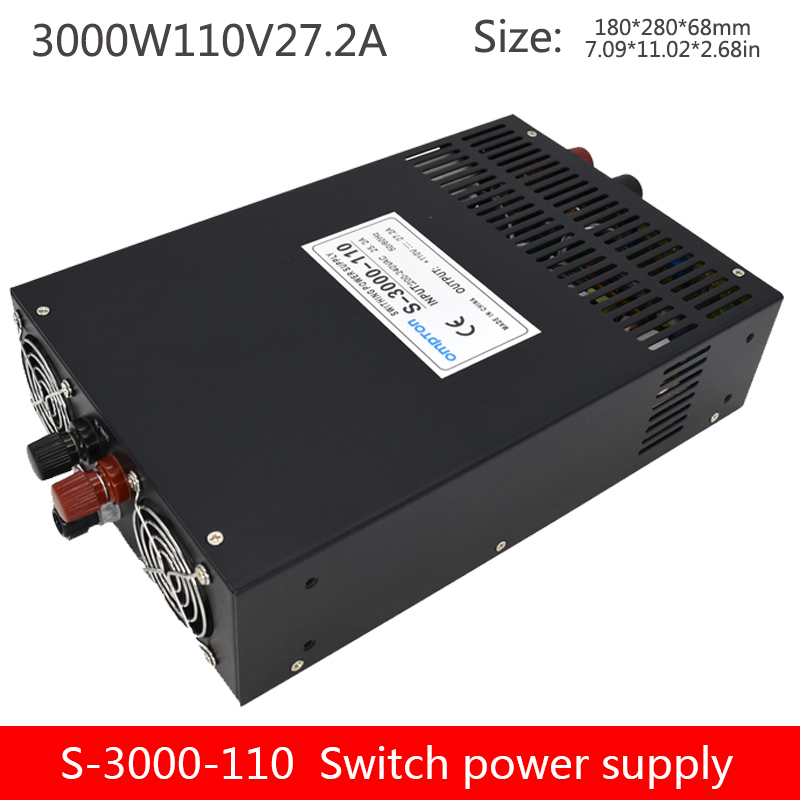 DC 110 output 3000W power supply current and voltage adjustable continuous stable power industrial control switch S-3000-110