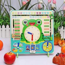 Children Educational Toys Wooden Calendar Weather Season Month Cognitive Clock Toy Baby Early Learning Development Toy Kids Gift