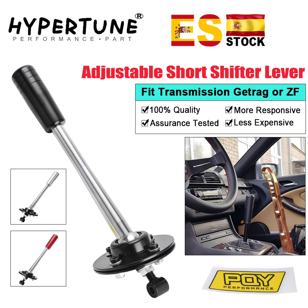 Hypertune - Drift Tuning Adjustable Short Shifter Lever with Knob Kit For 85-10 <font><b>BMW</b></font> <font><b>E30</b></font> E36 E46 E34 E39 E6x Z3 HT-PDG03/06 image