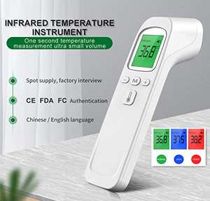 Digital-Thermometer Gun Forehead Ir-Laser Adults Infrared Indoor 3-Color Backlight-Display
