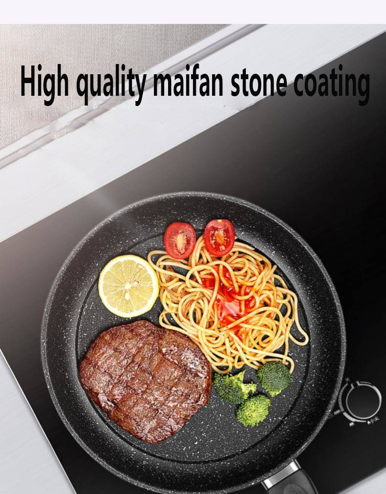 Pan Non-stick Pan No Oil Smoke Pot Household Small Frying Pan Universal Induction Cooker Gas Stove Frying Pan Kitchen Pot