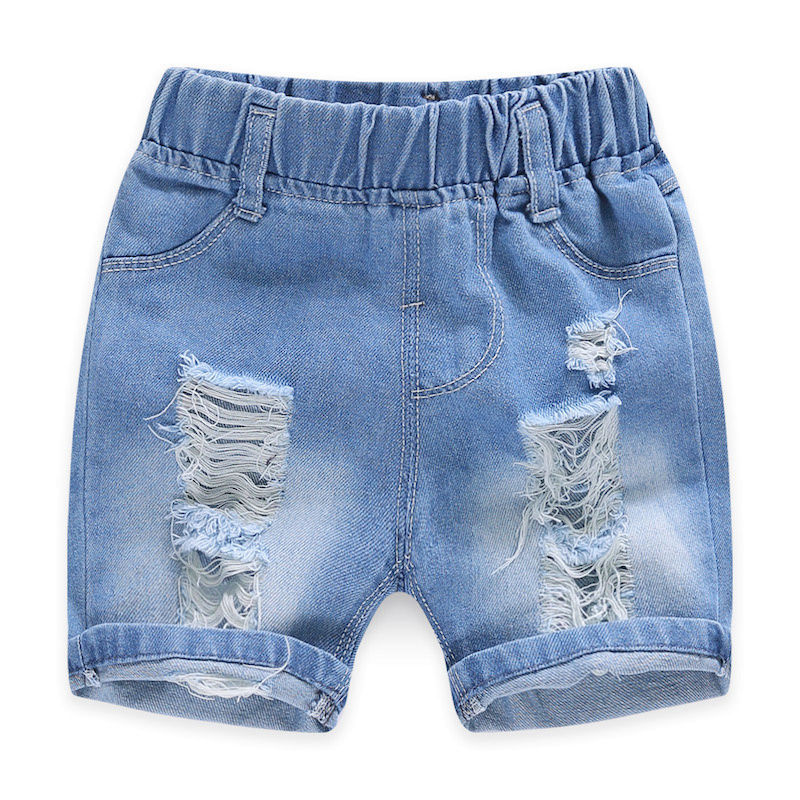 2020 Children Clothing Kids Jeans Summer Shorts Casual Hole Jeans Smiley Cowboy Baby Boy Clothes Cartoon Boys Denim Pants 2-8Y 3