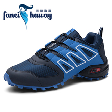 FANCIHAWAY High Top Breathable Hiking Shoes Durable Waterproof Anti-Slip Outdoor Climbing Shoes Leather Tactical Boots