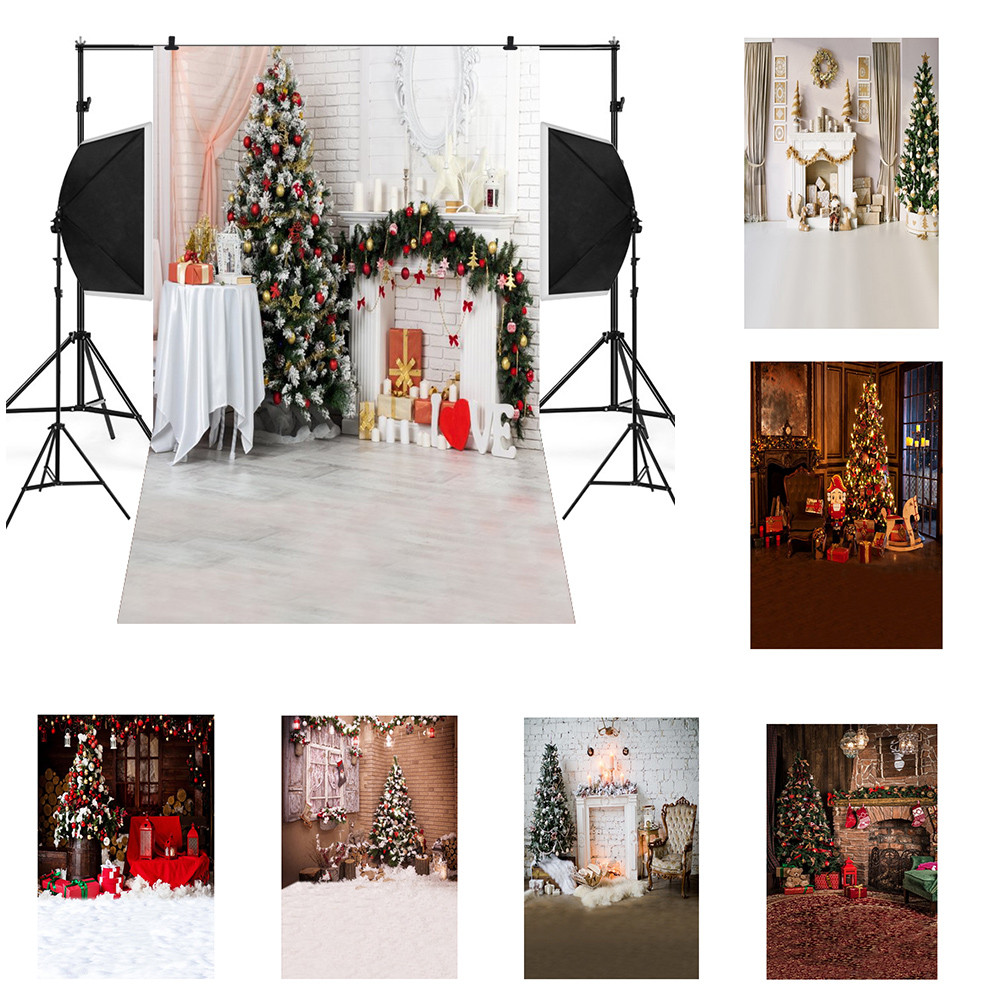 Christmas Photo Photography Props Background Cloth Vinyl Backdrop Studio 3x5ft
