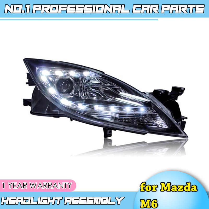 new head lamps car accessories For <font><b>Mazda</b></font> <font><b>6</b></font> <font><b>headlights</b></font> 2008-2013 For <font><b>Mazda</b></font> M6 bi <font><b>xenon</b></font> lens h7 <font><b>xenon</b></font> hid kit led drl head light image