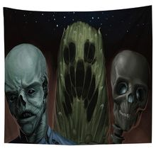 All saints cartoon skeleton Tapestries Hippy Printed Ethnic Wall Hanging