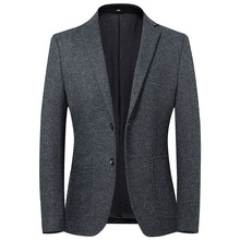 New wool mens suit for autumn and winter 2019 Korean slim fit casual coat upscale business