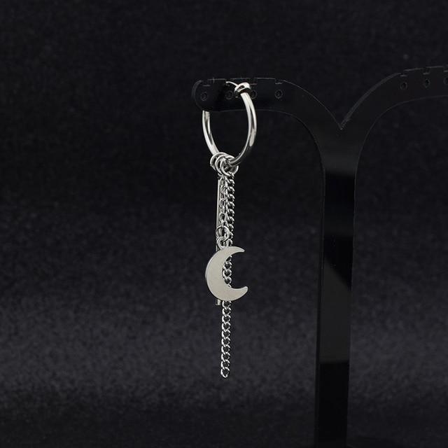 SOHOT koreański Design Tassel łańcuch wisiorek pasek kobiety mężczyzna spadek kolczyki kolor srebrny krzyż uśmiech twarz dysk okrągły biżuteria Unisex