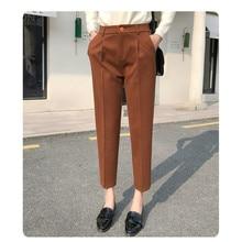 JUJULAND Women Leggings Stretch fabrics Drawstring Harlan pants Ankle-Length Pants black 9118
