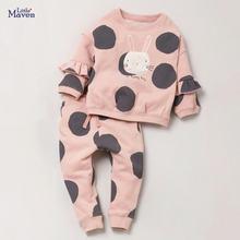 Little maven/Детские комплекты новый осенний хлопковый Детский