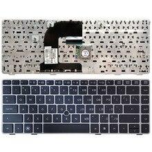 HP EliteBook 8470B 용 미국 노트북 키보드 8470P 8470 8460 8460p 8460w ProBook 6460 6460b 6470 은색 프레임이있는 키보드