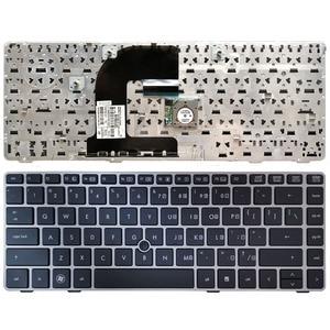 Image 1 - Клавиатура для ноутбука HP EliteBook 8470B 8470P 8470 8460 8460p 8460w ProBook 6460 6460b 6470 с серебристой рамкой
