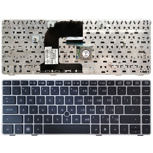 Image 1 - US laptop Keyboard For HP EliteBook 8470B 8470P 8470 8460 8460p 8460w ProBook 6460 6460b 6470 Keyboard with silver frame