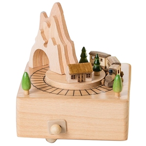 Wooden Musical Box Featuring M