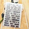 Прозрачная печать на день рождения, 11 х16 см