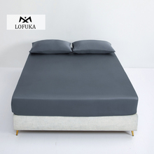 Lofuka Luxury 100% Silk Dark Gray Fitted Sheet Extreme Comfort Queen King Bed Sheet With Elastic Band Mattress Cover Pillowcase slowdream 1 piece wholesale luxury 100% silk fitted sheet elastic band mattress cover queen king bed sheets for women men