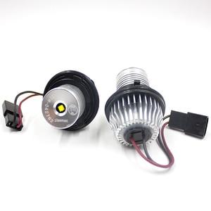 Image 4 - FSYLX 10 واط 6000K led عيون الملاك لسيارات bmw e60 LED مصباح تحديد أبعاد المركبة هالو خواتم لسيارات BMW E39 E53 E65 E66 E60 E61 E63 E64 E87 تصفيف السيارة