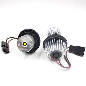 Image 4 - FSYLX 10W 6000K led melek gözler bmw e60 LED işaretleyici ışıkları Halo yüzükler BMW E39 E53 e65 E66 E60 E61 E63 E64 E87 araba styling