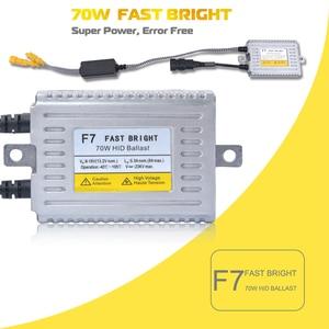 Image 2 - 1PC 70W 55W 35W HID Slim Ballast F7 Q5 Fast Bright C5 Error Free CANBUS Ballasts Control H1 H7 H8 H9 H11 9005 9006 H4 Headlight