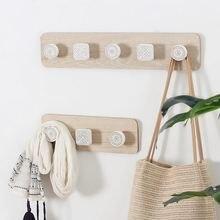 Деревенская вешалка для пальто настенная деревянная ключей домашний