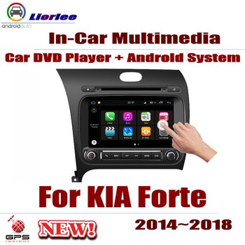 Teléfono De 6.5 Pulgadas   Reproductor De DVD Para Coche KIA Forte 2014 ~ 2018 IPS Pantalla LCD Navegación GPS Sistema Android Radio Audio Video ESTÉREO