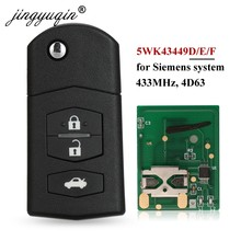 Автомобильный Брелок дистанционного управления с ключом jingyuqin 3BTN для Mazda 5WK43449D /5WK43449E /5WK43449F 433 МГц M2 Demio M3 Axela M5 Premacy M6 Atenza
