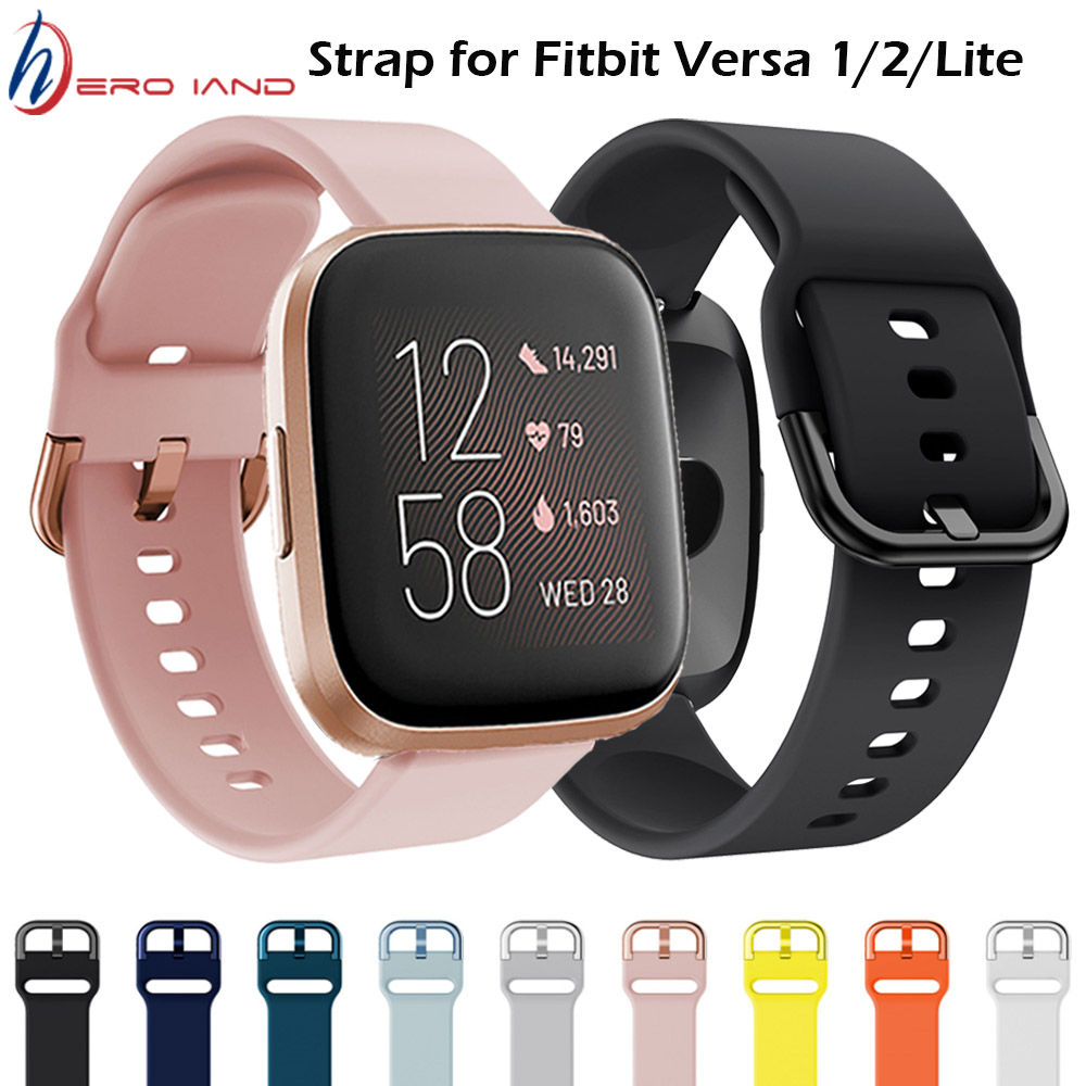 Ремешок для Fitbit Versa 2 ремешок из мягкого силикона водонепроницаемый сменный ремешок для часов для Fitbit Versa/Versa 2/Versa Lite Correa