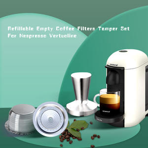Stianless Steel Reusable Big CUP(230ML) Coffee Capsule For Nespresso Vertuo Refillable