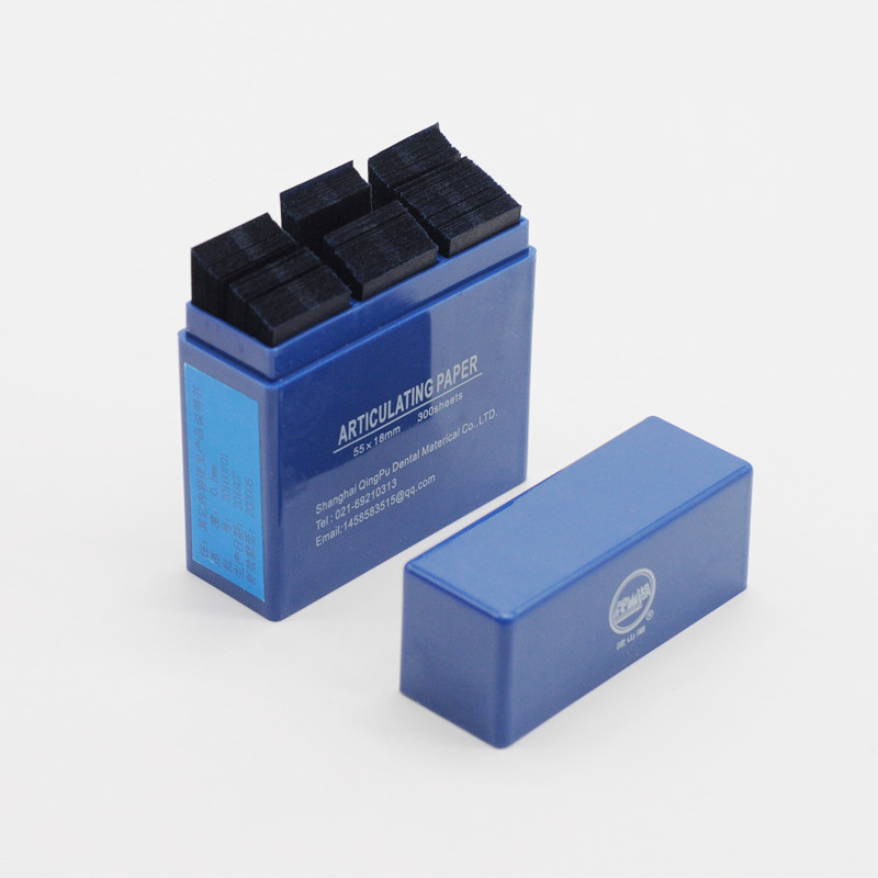 55*18 мм артикуляционные бумажные полоски 300 лист/коробка для стоматологических продуктов лаборатории - Цвет: 1pcs blue