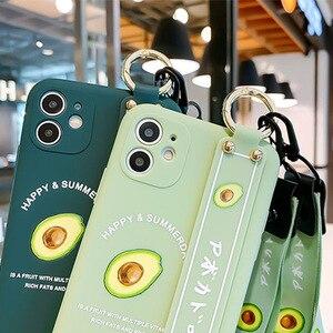 Image 2 - 3D cute cartoon fruit avocado Holder Stand lanyard Soft phone case for P30 40 30 40Pro mate 30 Pro nova7 Pro SE2020 Holder cover