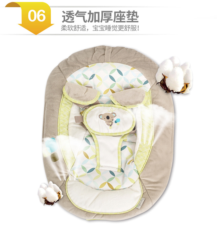 H805e55b505834932bfae3fc9f0376372T Newborn Gift Multi-function Music Electric Swing Chair Infant Baby Rocking Chair Comfort Cradle Folding Baby Rocker Swing 0-3Y