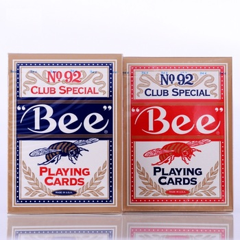 цена на 1pcs High Quality Bee Deck Red or Blue Magic Playing Cards Poker Magic Deck Props Magia Magic Tricks for Professional Magician