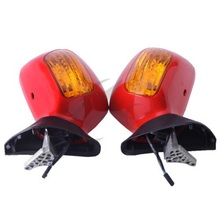 цена на Motorcycle Left Right Side Rear View Mirror Signal For Honda Goldwing GL1800 2001-2017