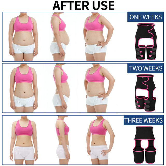 Neoprene Slim Thigh Trimmer Sweat Waist Trainer Leg Shapers Slender Slimming Belt Shapewear Muscles Band Weight Loss Body Shaper 4