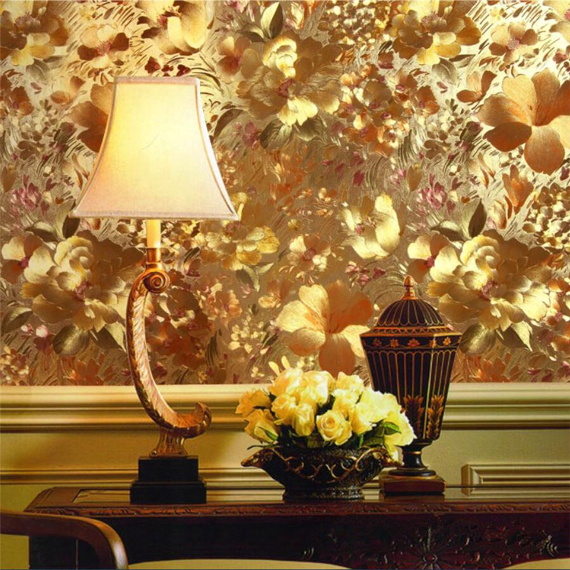 Wellyu Papel De Parede Wall Paper Modern Embossed Gold Foil Metal Reflective Wallpapers Living Room TV Background Wallpaper обои
