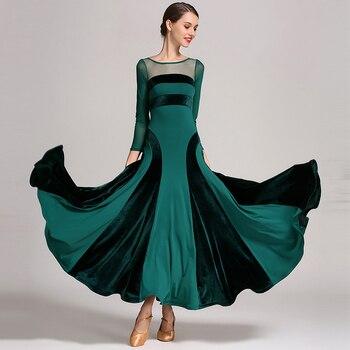 Ballroom Dancing Costumes High-quality Velvet big swing Dress Lady Flamengo Samba Latin Skirt Performance Dancewear For Girls